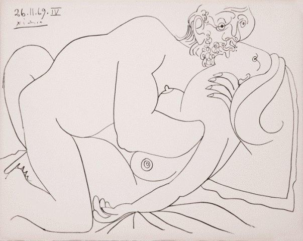 Pablo Picasso, Nu Couche IV, Lithograph