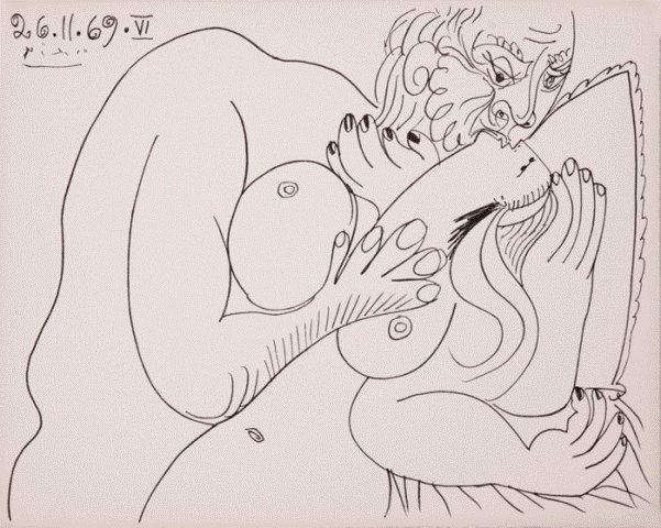 Pablo Picasso, Nu Couche VI, Lithograph