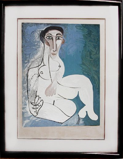 Pablo Picasso, Femme Nue Assise dans L'Herbe, Lithograp