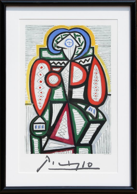 Pablo Picasso, Femme Assise, Lithograph