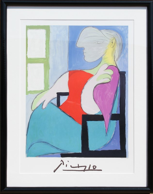 Pablo Picasso, Femme Assise Pres d'Une Fenetre, Lithogr