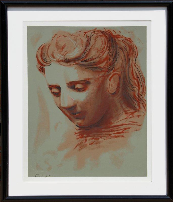 Pablo Picasso, Portrait of a Woman, Serigraph Poster