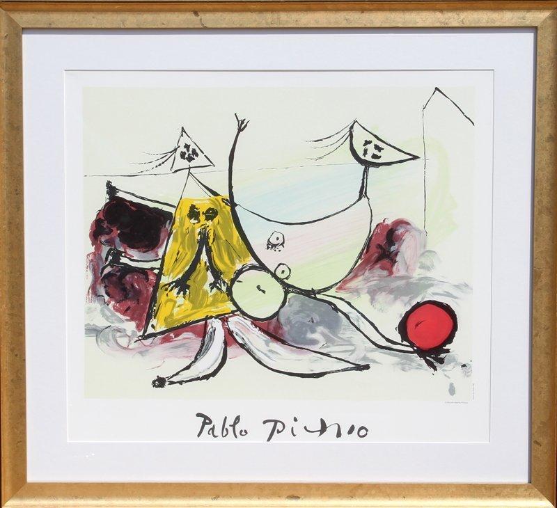 Pablo Picasso, Femme sur la Plage Jouant au Balloon, Li