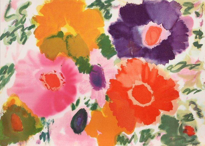 Helen Covensky, Flowers V, Lithograph