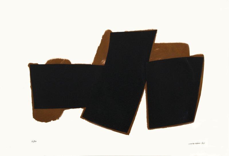 Conrad Marca-Relli, Dark Shapes, Collage Multiple