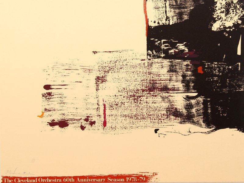 Helen Frankenthaler, Cleveland Orchestra, Lithograph