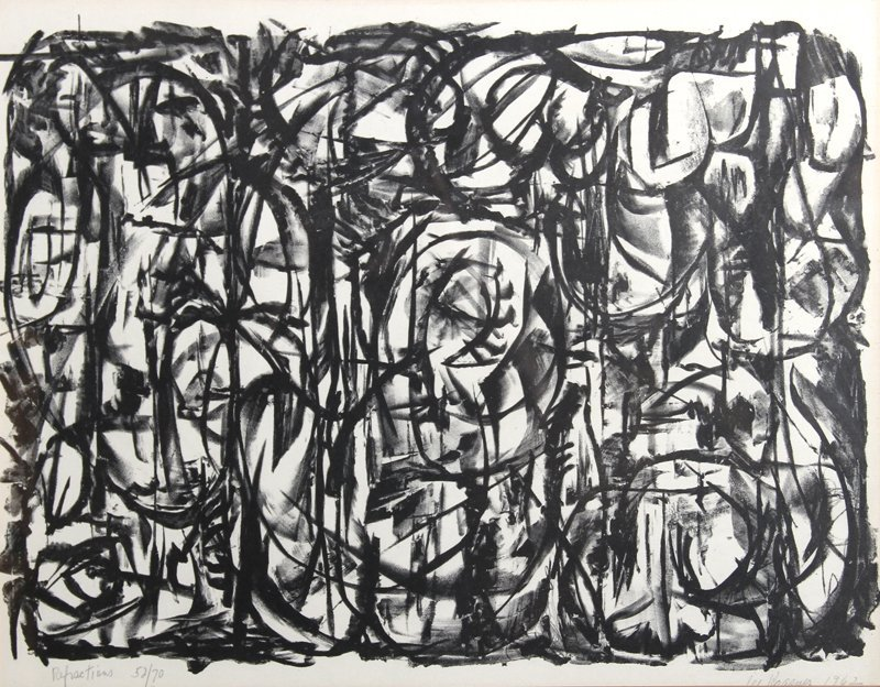 Lee Lenore Krasner, Refractions, Lithograph