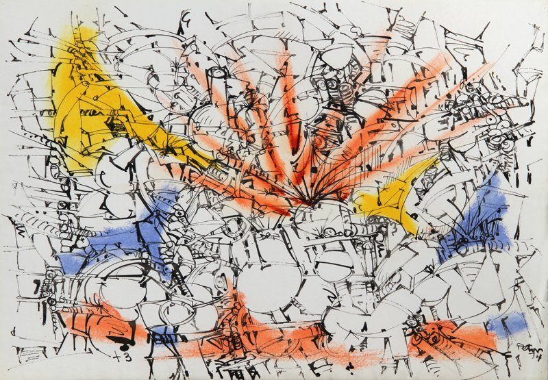 Dimitri Petrov, Abstract, Ink Drawing