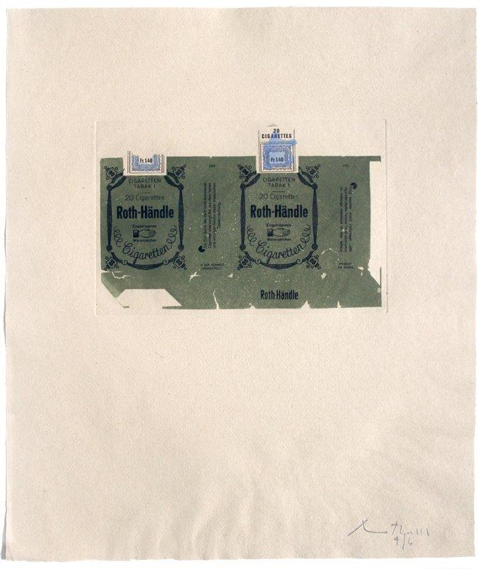 Robert Motherwell, Roth-Handle II (olive), Aquatint