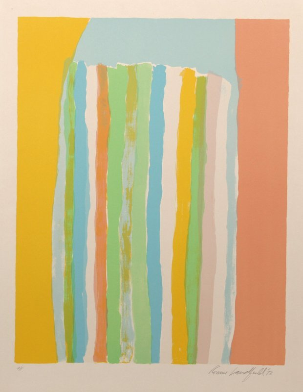 Ronnie Landfield, Color Fields II, Silkscreen