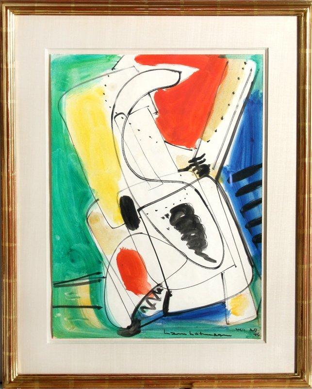 Hans Hofmann, Viticalite, Gouache and Watercolor