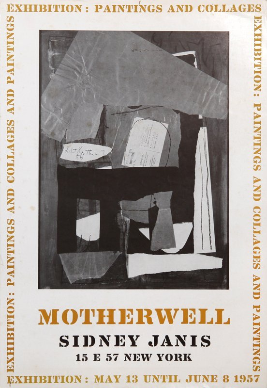 Robert Motherwell, Exhibition: Paintings and Collages