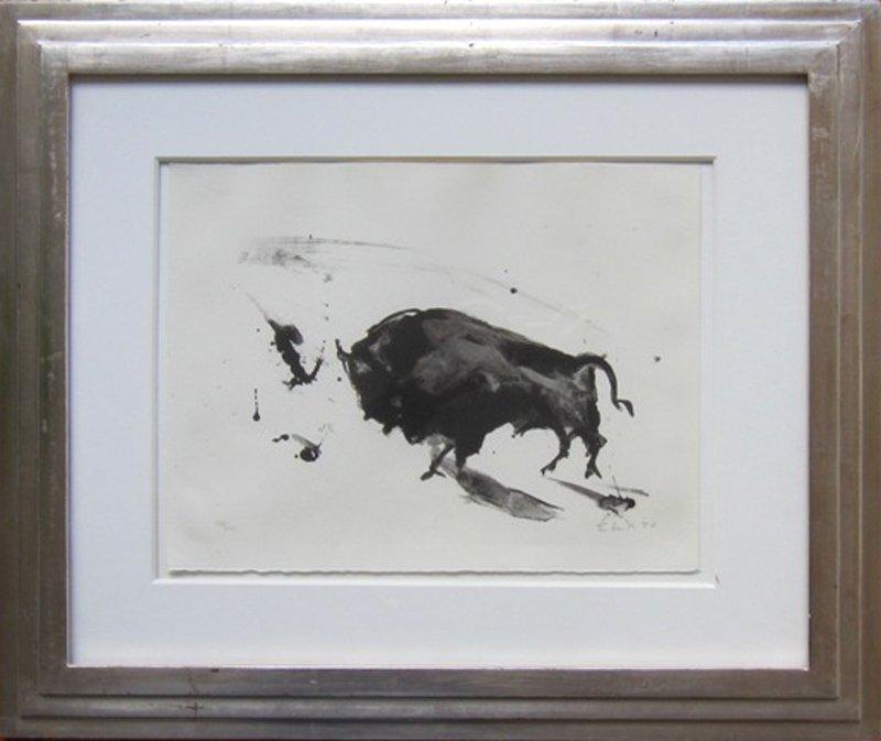 Elaine de Kooning, Bull, Lithograph
