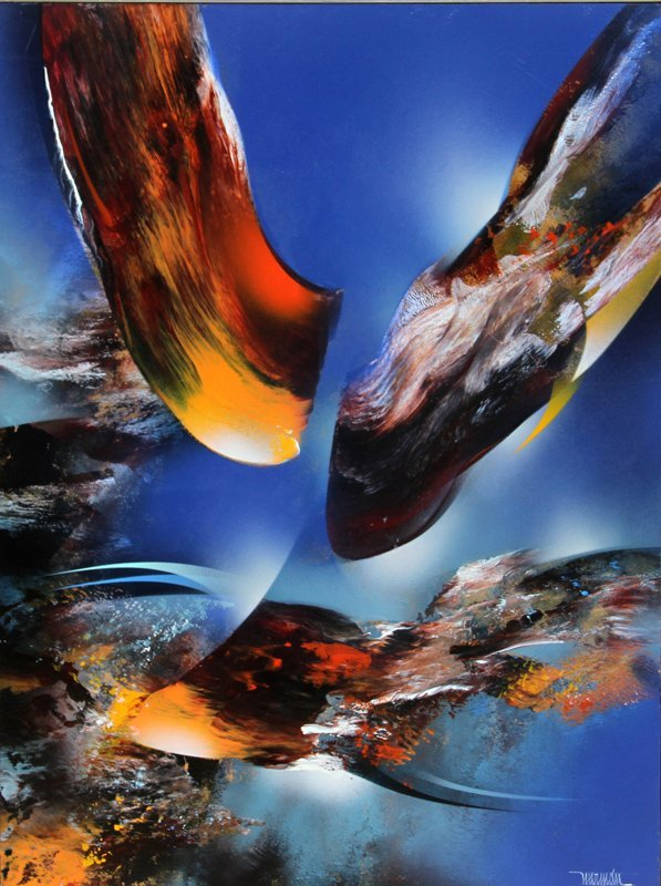 Leonardo Nierman, Bird of Paradise, Oil Painting