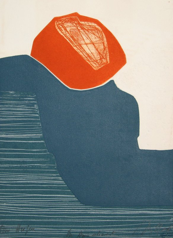 Gilou Brillant, Abstract 14, Aquatint Etching