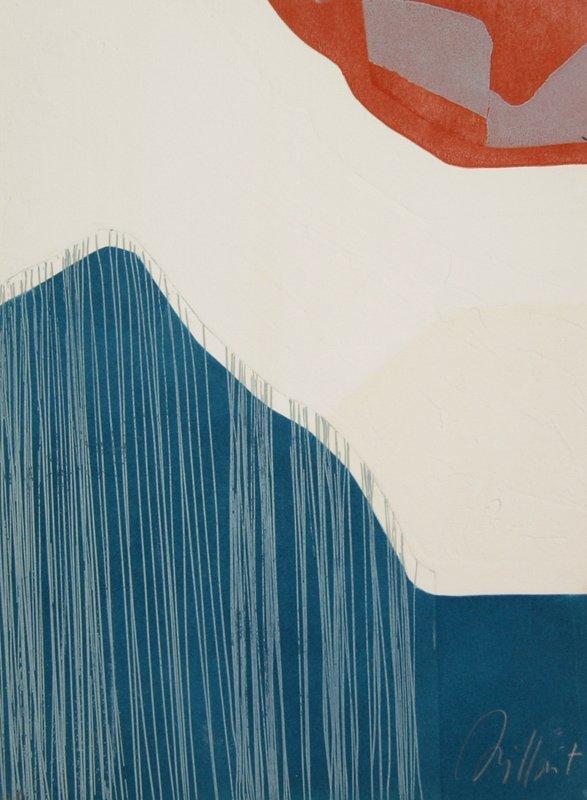 Gilou Brillant, Abstract 11, Aquatint Etching