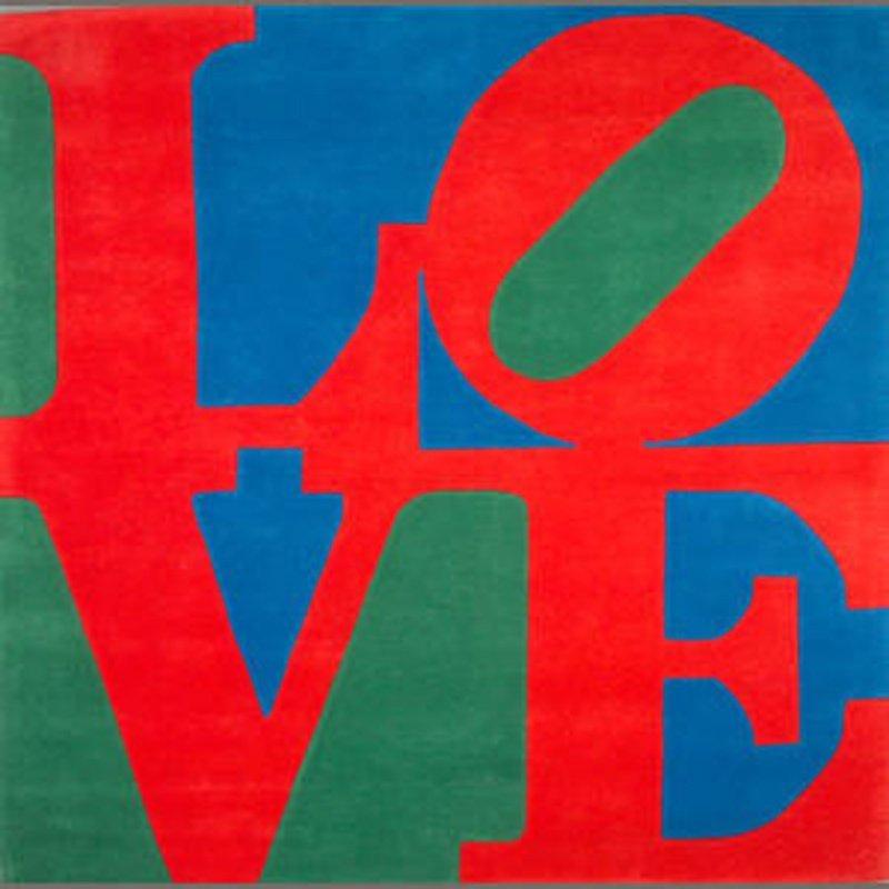Robert Indiana, Classic Love, Wool Tapestry