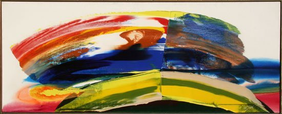 Paul Jenkins, Phenomena Bent Sun Chart, Oil Painting