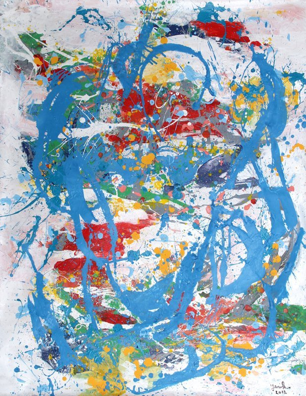 Jenik Cook, Abstract Expressionist Painting