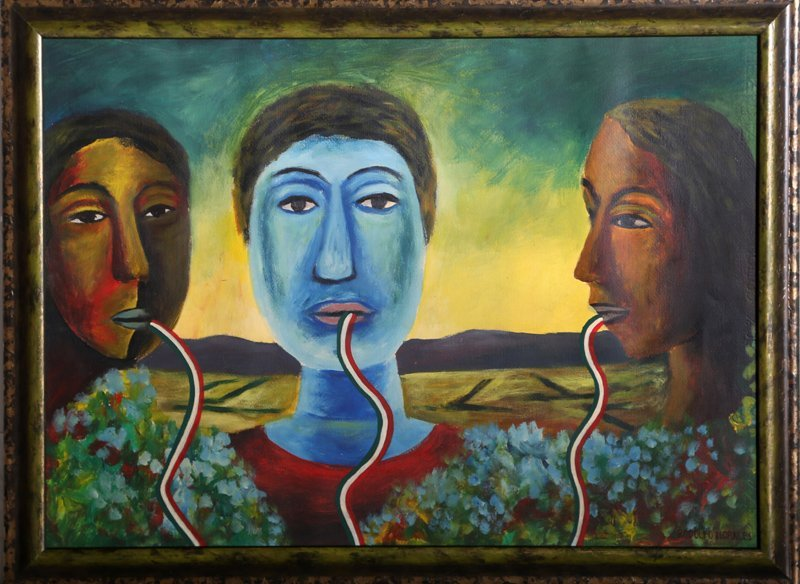 Rodolfo Morales, Tres Cabezas, Oil Painting