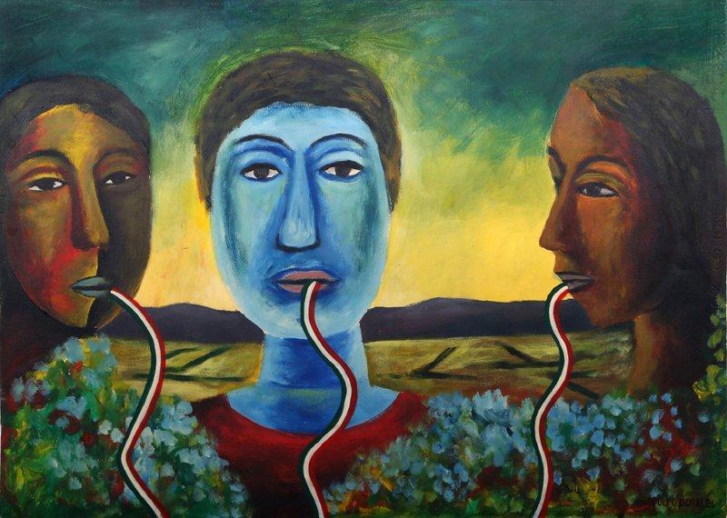 Rodolfo Morales, Tres Cabezas, Oil Painting - 3