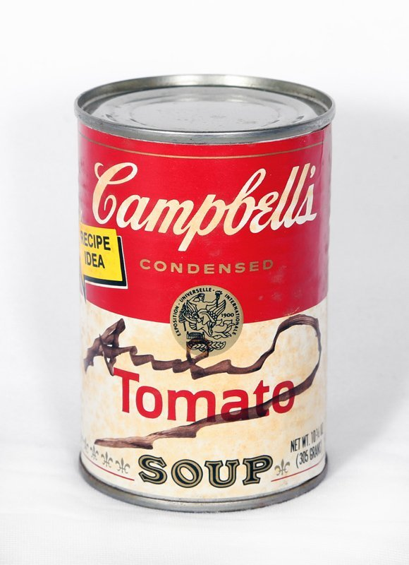 Andy Warhol, Campbell's Tomato Can Soup Can Autographed