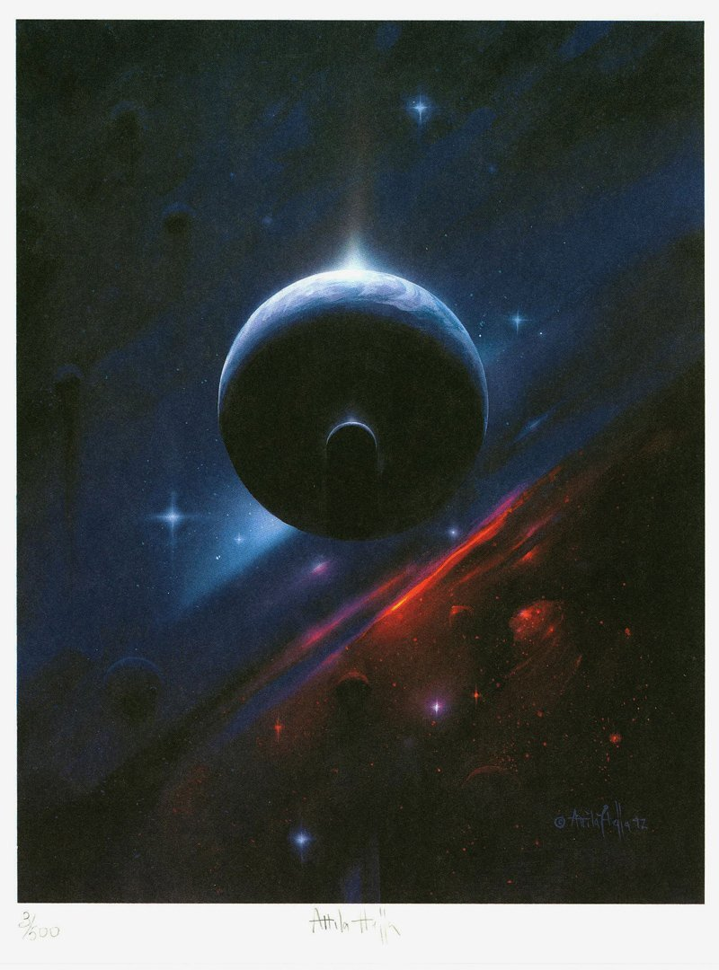 Attila Hejja, Earth Light, Lithograph