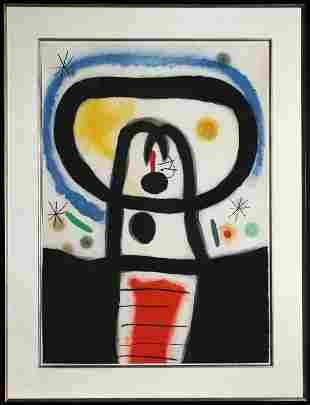 Joan Miro, Equinoxe, Aquatint Etching
