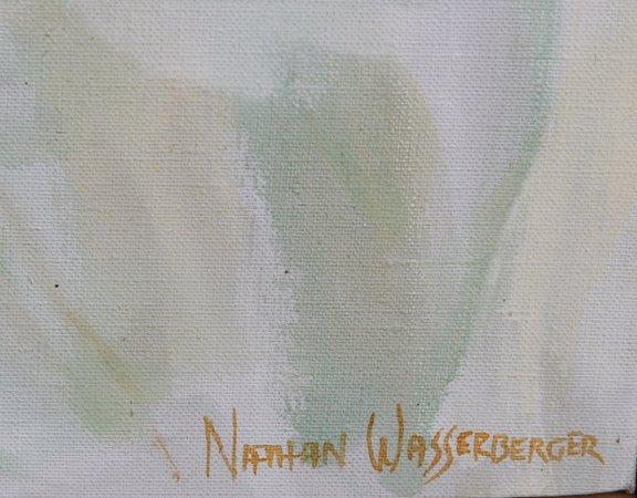 Nathan Wasserberger, Red Haired Nude, Oil Painting - 3