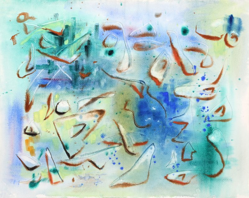 Eve Nethercott, Abstract (p3-2), Watercolor Painting