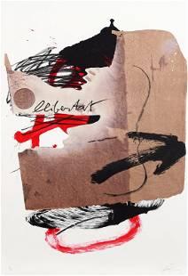 Antoni Tapies, Arrow, Lithograph