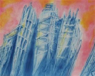 Martha Diamond, Skyscrapers, Lithograph