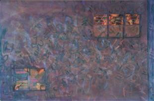 Lise Driout, January Series #6, Monoprint