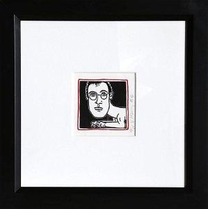 Keith Haring, Self Portrait, Silkscreen