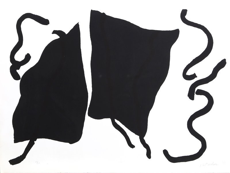 Raymond Parker, Black and White Abstract II, Silkscreen