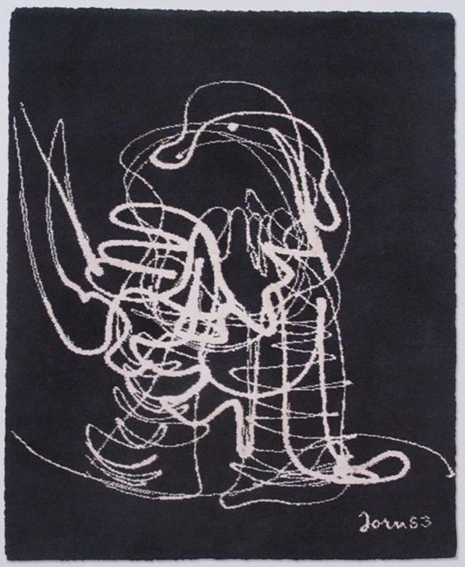Asger Jorn, Abstract Figure, Wool Rug