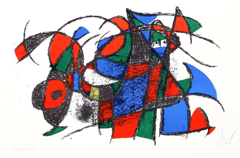 Joan Miro, Lithographs II - 1039, Lithograph