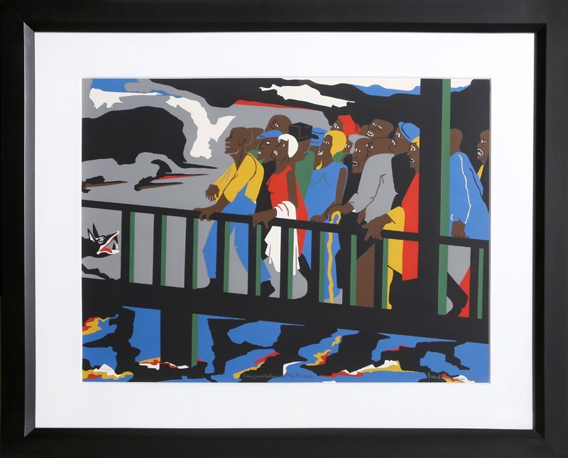 Jacob Lawrence, Confrontation at the Bridge (Selma,