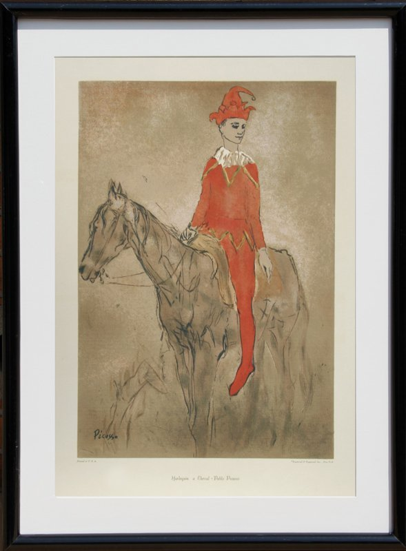 Pablo Picasso, Harlequin a Cheval, Serigraph Poster