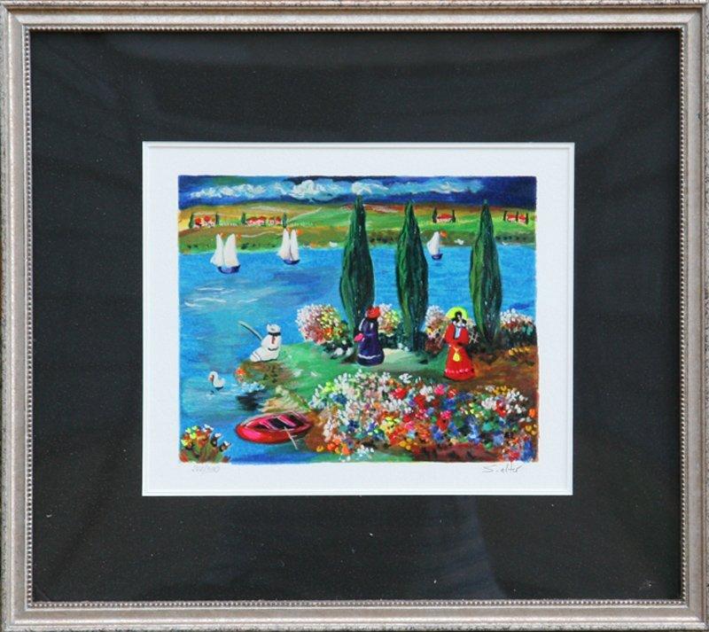 Shlomo Alter, By the River, Serigraph