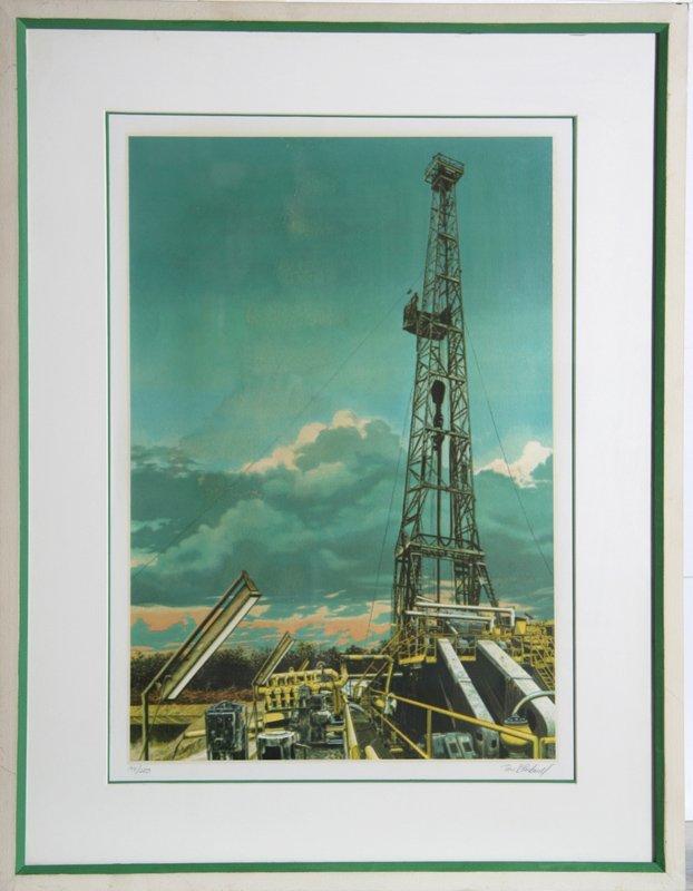 Tom Blackwell, Oil Well, Serigraph