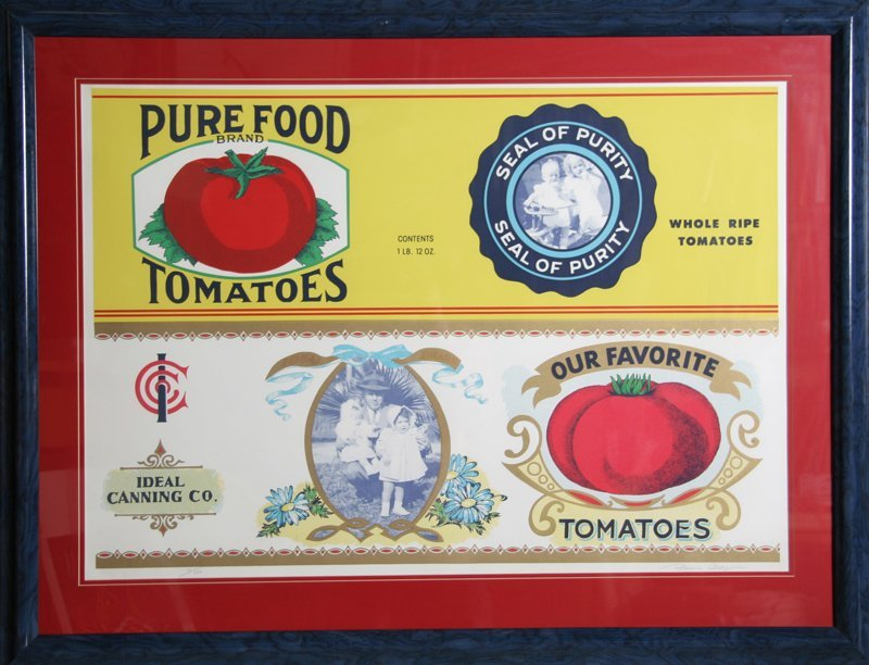 Barbara Cesery, Pure Food Tomatoes, Serigraph