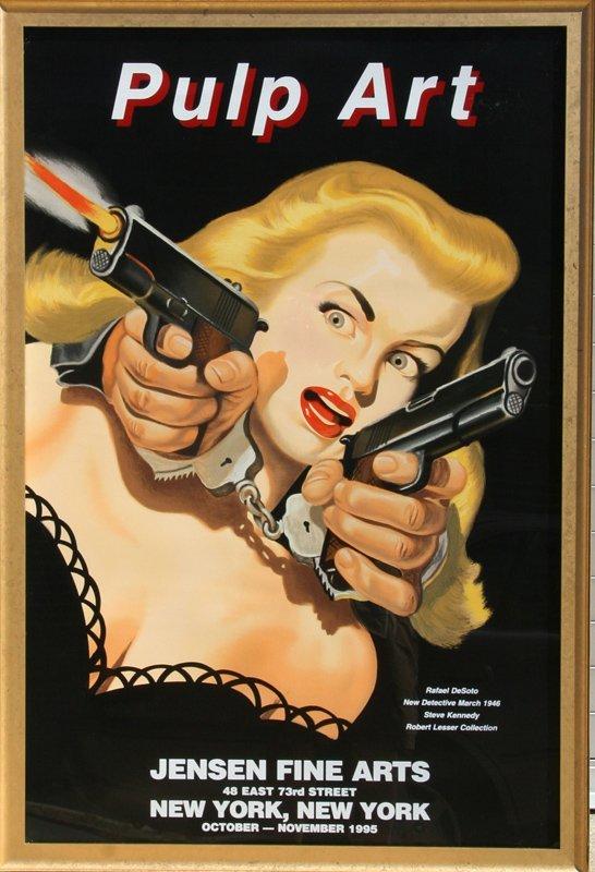 Rafael Desoto, Pulp Art: New Detective 1946, Silkscreen