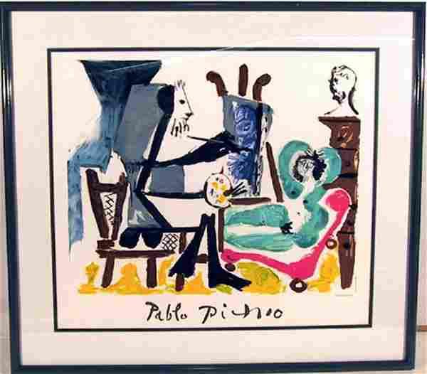 Pablo Picasso, Le Peintre et son Modele, Lithograph