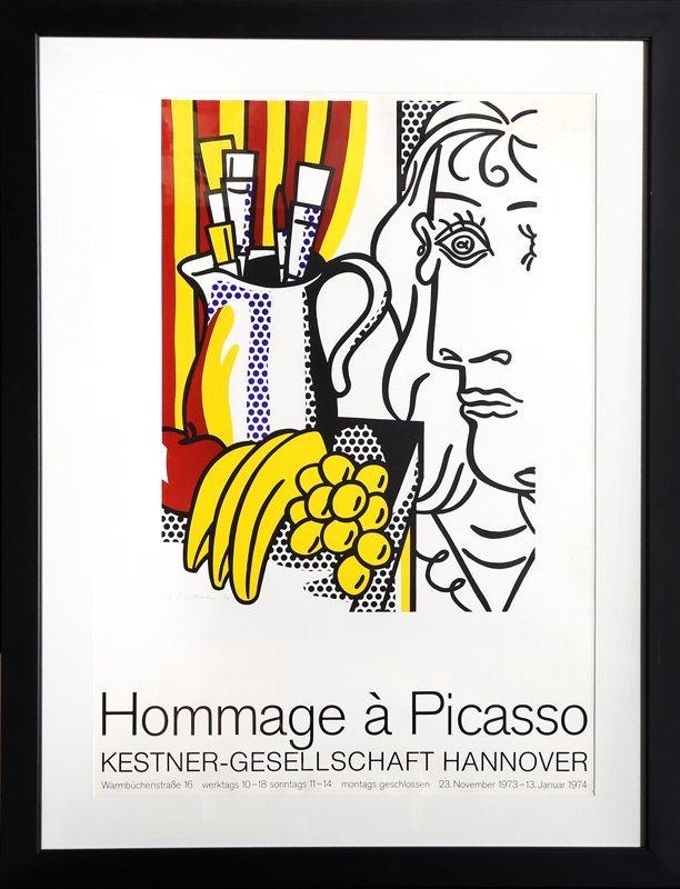 Roy Lichtenstein, Homage to Picasso, Poster