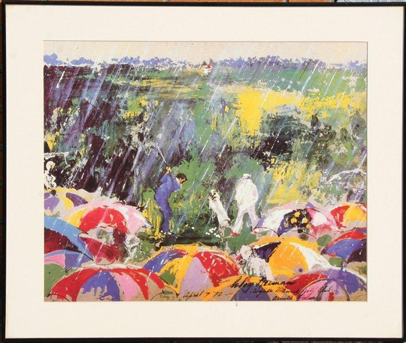 LeRoy Neiman, Augusta Golf Club, Arnold Palmer, Poster
