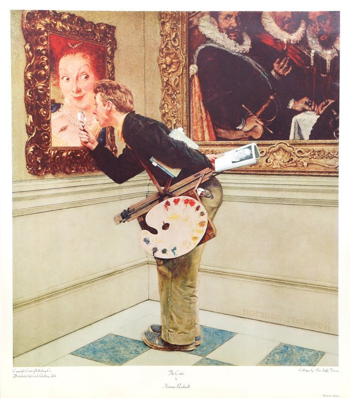 Norman Rockwell, Saying Grace, Collotype Poster