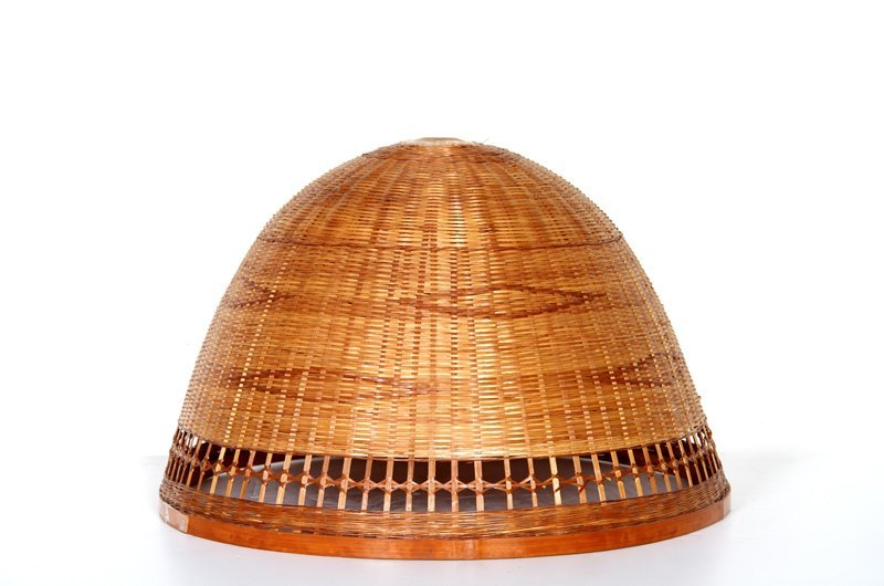 Hanging Swag Lamp Shade, Woven Rattan Wicker