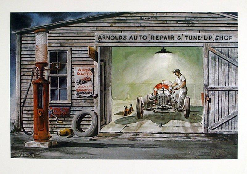 John W. Burgess, Auto Repair Shop, Poster