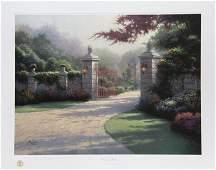 Thomas Kinkade, Summer Gate, Offset Lithograph